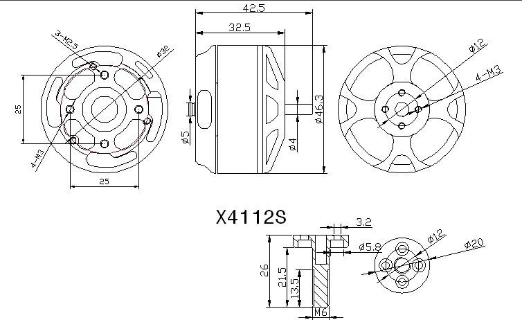 sunnysky x4112s 485kv outrunner brushless motor fr multirotoraircraft